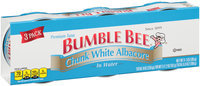 Bumble Bee® Chunk White Albacore Tuna in Water 3-3 oz. Cans