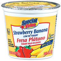 Special Value Strawberry Banana Low Fat Yogurt 6 Oz Cup