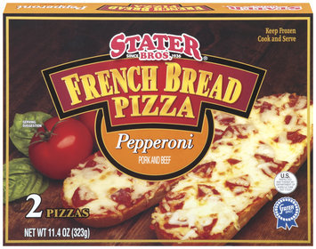 Stater Bros. Pepperoni 11 Oz French Bread Pizza 2 Ct Box