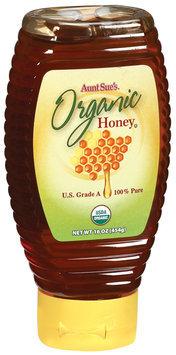 Aunt Sue's Organic 100% Pure Honey 16 Oz Squeeze Bottle
