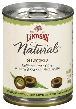 Lindsay Naturals Sliced Olives 3.8 Oz Pull-Top Can