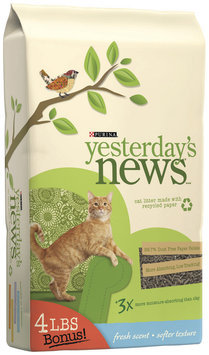 Purina Yesterday's News Fresh Scent Softer Texture Cat Litter 30.4 lb. Bag