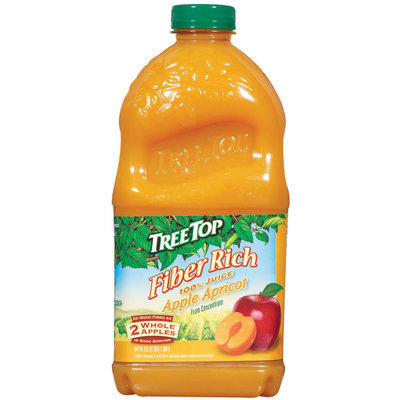 Tree Top Fiber Rich Apple Apricot from Concentrate 100% Juice 64 Fl Oz Plastic Bottle