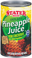 Stater Bros. Pineapple 100% Juice 46 Oz Can