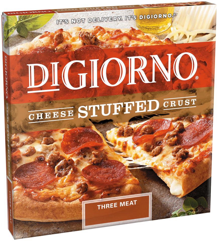 DIGIORNO Cheese Stuffed Crust Three Meat Pizza 24.5 oz. Box