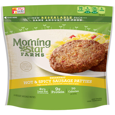 MorningStar Farms® Breakfast Hot & Spicy Sausage Patties 8 oz. Pouch