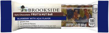 Brookside Dark Chocolate Blueberry with Acai Flavor Fruit & Nut Bar 1.4 oz. Wrapper