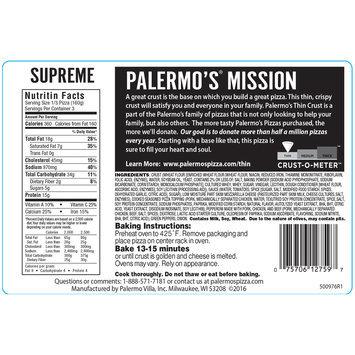 Palermo's® Thin Crust Supreme Pizza 16.9 oz. Pack
