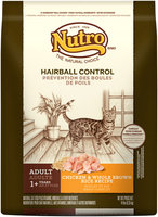 Nutro® Hairball Control Adult Chicken & Whole Brown Rice Recipe Cat Food 14 lb. Bag