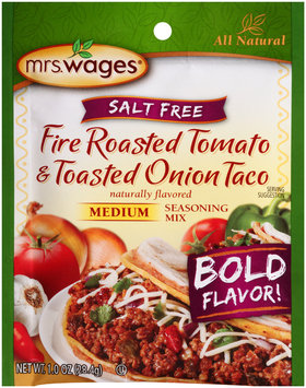 Mrs.Wages® Salt Free Medium Fire Roasted Tomato & Toasted Onion Taco Seasoning Mix  1.0 oz.