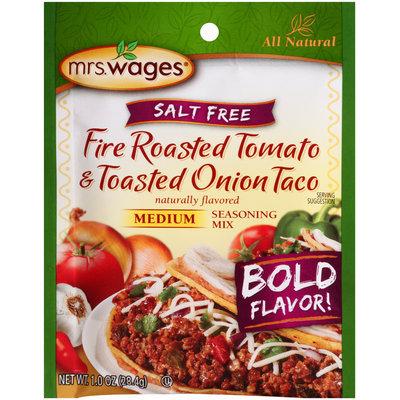 Mrs.Wages® Salt Free Medium Fire Roasted Tomato & Toasted Onion Taco Seasoning Mix  1.0 oz.