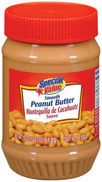 Special Value Smooth Peanut Butter 18 Oz Plastic Jar
