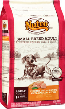 Nutro® Small Breed Adult Chicken, Whole Brown Rice & Oatmeal Recipe Dog Food 4 lb. Bag