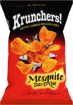 Krunchers!® Kettle Cooked Mesquite Bar-B-Que Potato Chips 1.875 oz. Bag