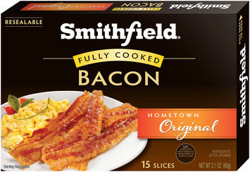 Smithfield® Hometown Original Fully Cooked Bacon 2.1 oz. Box