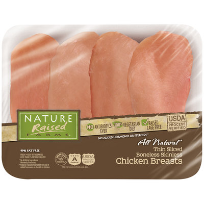 Nature Raised Farms® All Natural Thin Sliced Boneless Skinless Chicken Breasts