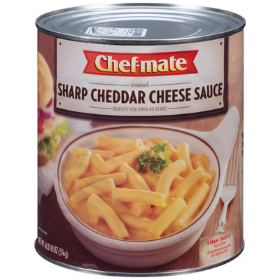 Chef-Mate® Sharp Cheddar Cheese Sauce 6.62 lb. Can