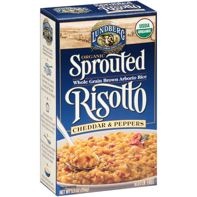 Lundberg® Organic Cheddar & Peppers Sprouted Risotto 5.5 oz. Box
