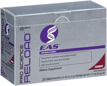 EAS Dietary Supplement Cherry .37 Oz Powder Packets Pro Science Reload 21 CT BOX
