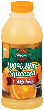 Haggen Orange Pure Squeezed from Concentrate 100% Juice 16 Oz Plastic Bottle