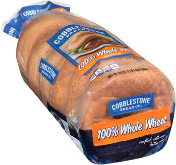 Cobblestone Bread Co.™ 100% Whole Wheat Bagels 20 oz. Bag