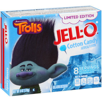 Jell-O® Trolls Limited Edition Cotton Candy Gelatin Dessert Mix 6 oz. Box