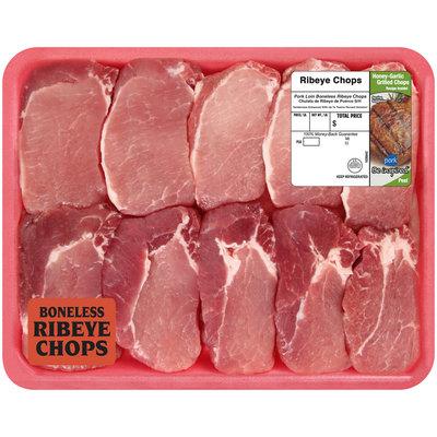 Farmland® Pork Loin Boneless Ribeye Chops Tray