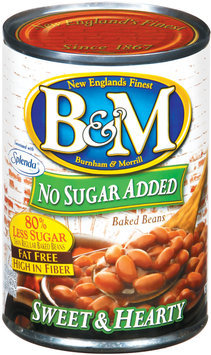 B&M Sweet & Hearty No Sugar Added Baked Beans 16 Oz Can