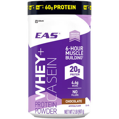 EAS® Whey + Casein Chocolate Protein Powder 2 lb. Canister