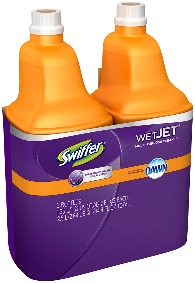 Swiffer WetJet Cleaner Solution Refill with Dawn 1.25L Twin Pack