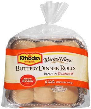 Rhodes® Warm-N-Serv™ Buttery Dinner Rolls 9 ct Tray