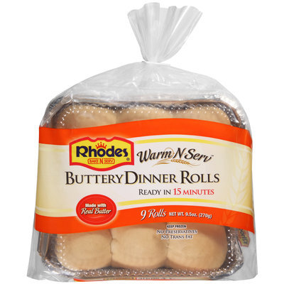 Rhodes® Warm-N-Serv™ Buttery Dinner Rolls 9 ct Tray