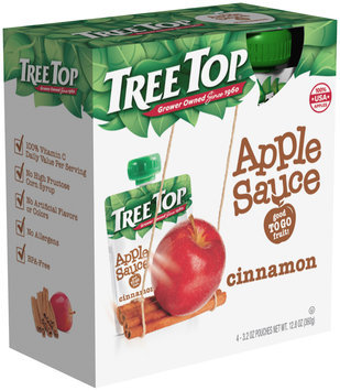Tree Top® Cinnamon Apple Sauce 3.2 oz. Pouch