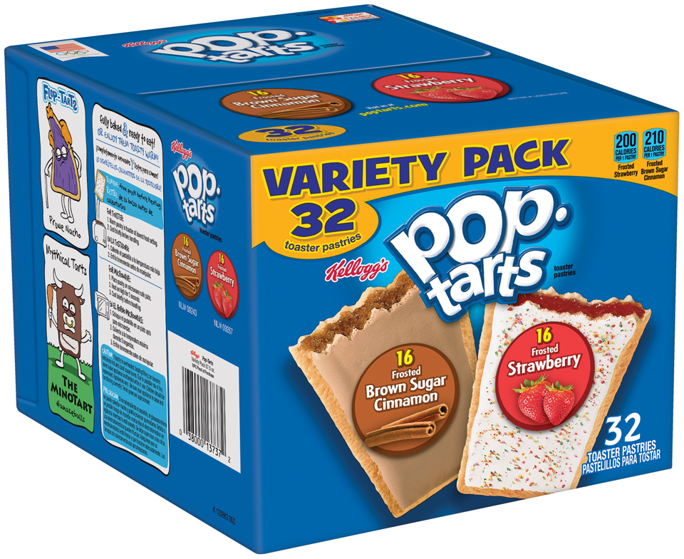 Kellogg's® Pop-Tarts® Frosted Strawberry/Frosted Brown Sugar Cinnamon Toaster Pastries Variety Pack 32 ct Box
