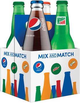 Pepsi®/Mountain Dew®/Orange Crush® Mix and Match 4 Pack 12 fl. oz. Glass Bottles
