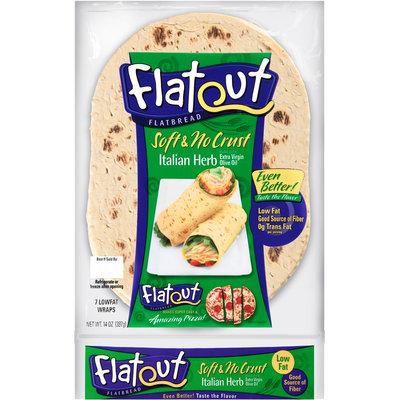 Flatout® Soft & Nocrust Italian Herbs Flatbread 14 oz. Packet