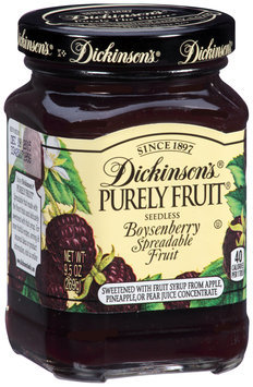 Dickinson's® Purely Fruit® Seedless Boysenberry Spreadable Fruit 9.5 oz. Jar