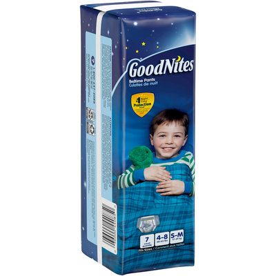 GoodNites® Bedtime Pants S-M 7 ct. Package