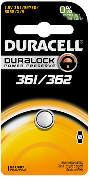 Duracell Coin Button 361/362 batteries 1 Count