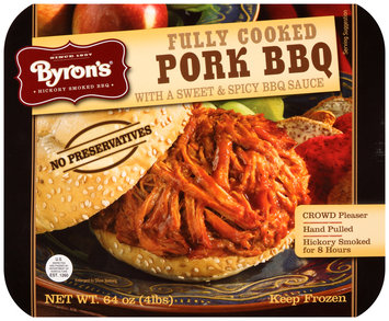 Byron's® Fully Cooked Pork BBQ with a Sweet & Spicy BBQ Sauce