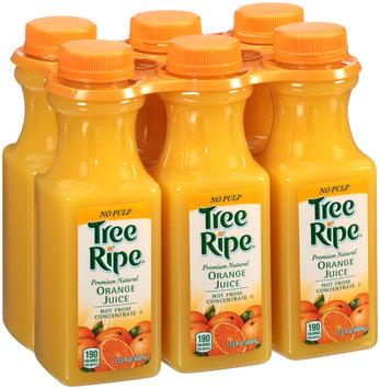 Tree Ripe® Premium Natural No Pulp Orange Juice 6-13.5 fl. oz. Bottles