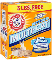 Arm & Hammer® Cat Liter Multi-Cat Extra Strength Clumping Unsented 31 lb box