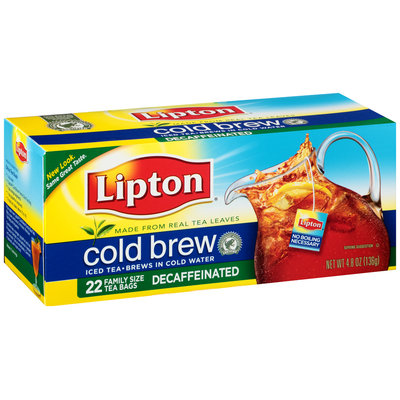 Lipton® Cold Brew Decaffeinated Family Size Iced Tea Bags