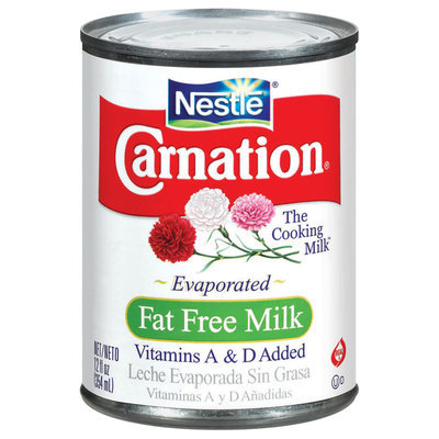 Carnation Fat Free Evaporated Milk Can