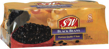 S&W 8 Ct Black Beans 15 Oz Cans