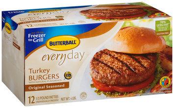 Butterball® Everyday Original Seasoned Turkey Burgers 12 ct Box