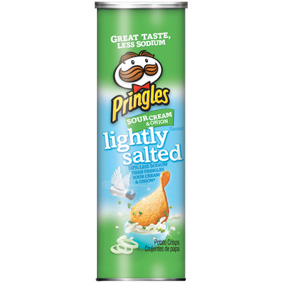 Pringles® Lightly Salted Sour Cream & Onion Potato Crisps