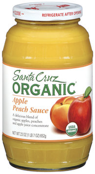 Santa Cruz Organic Apple Peach Sauce 23 Oz Jar