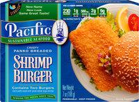 Pacific Sustainable Seafood™ Crispy Panko Breaded Shrimp Burger 2 ct Box