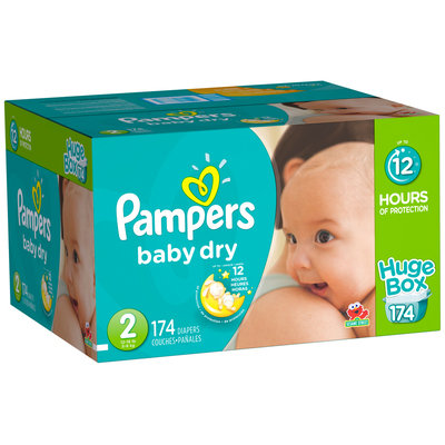 Baby Dry Pampers Baby Dry Size 2 Huge Pack 174 Count